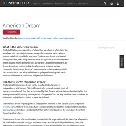 American Dream Definition