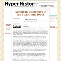 American Economics in the 1920s and 1930s