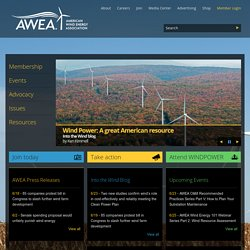 AMERICAN WIND ENERGY ASSOCIATION | Welcome to AWEA