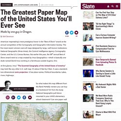 "The best American wall map: David Imus' ""The Essential Geography of the United States of America"""