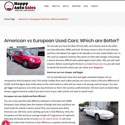 American vs European Used Cars: Which are Better?