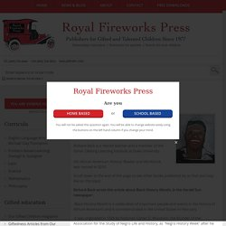 African-American Experience - Series by Royal Fireworks Press