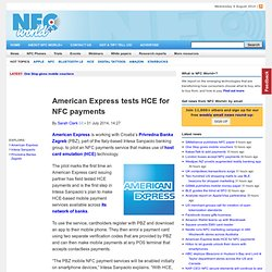 American Express tests Host Card Emulation (HCE) for #NFC payments