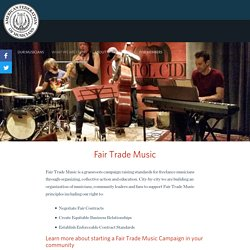 Fair Trade Music - American Federation of Musicians