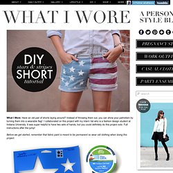 DIY American Flag Shorts on What I Wore