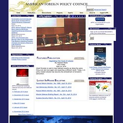 American Foreign Policy Council - Home