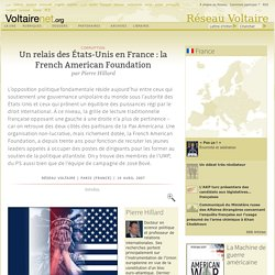 French American Foundation relais US