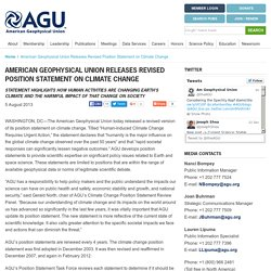 American Geophysical Union Releases Revised Position Statement on Climate Change - AGU Newsroom