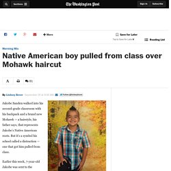 Native American boy pulled from class over Mohawk haircut