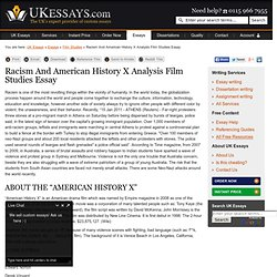 Racism And American History X Analysis Film Studies Essay