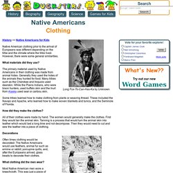 Native American History for Kids: Clothing