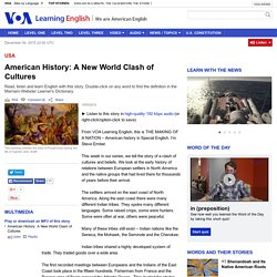 American History: A New World Clash of Cultures