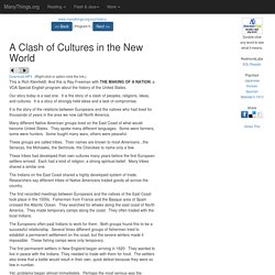 American History: A Clash of Cultures in the New World (VOA Special English 2007-10-31)
