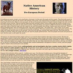 Native American History - Pre-European Period