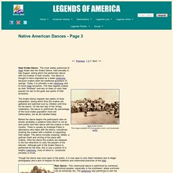 Native American Dances - History and Information - Page 3
