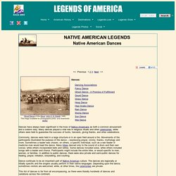 Native American Dances - History and Information