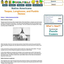 Native American History for Kids: The Teepee, Longhouse, and Pueblo Homes