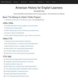 American History in VOA Special English