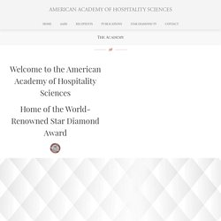 The Academy ⋆ AMERICAN ACADEMY OF HOSPITALITY SCIENCES