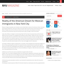 Reality of the American Dream for Mexican Immigrants in New York City - NYU Magazine