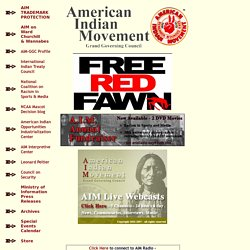 - American Indian Movement - AIM -