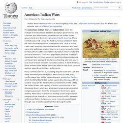 American Indian Wars - Wikipedia
