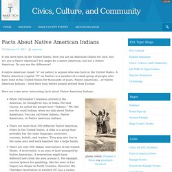 Facts About Native American Indians