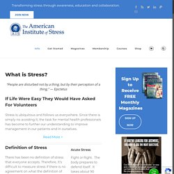 Daily Life - The American Institute of Stress