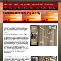 American KuneKune Pig Society - KuneKune History