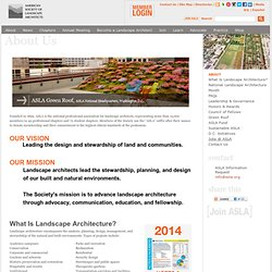 About American Society of Landscape Architects (ASLA)