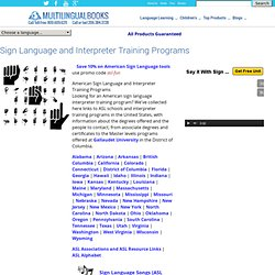 Learn ASL - American Sign Language and Interpreter Training Programs