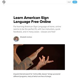 Learn American Sign Language Free Online: Online ASL Classes at No Cost!