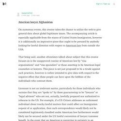 American lawyer Afghanistan