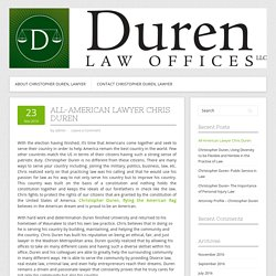 All-American Lawyer Chris Duren
