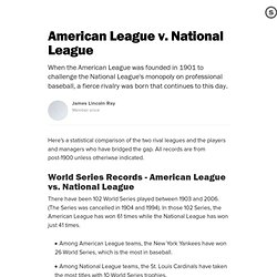 American League v. National League: A Battle for Supremacy Between Baseball's Junior and Senior Circuits