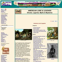 American Lore, Legends and Campfire Tales