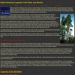 Native American Legends, Folk Tales, and Stories