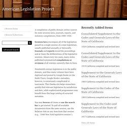 American Legislation Project