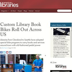 Custom Library Book Bikes Roll Out Across US
