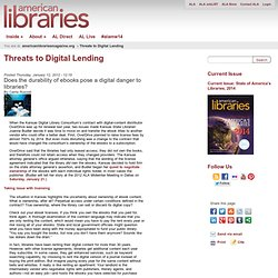 Threats to Digital Lending