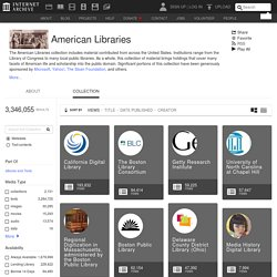 American Libraries : Free Books : Free Texts : Download & Streaming