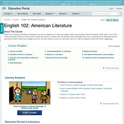 English 102: American Literature Course - Free Online Video Lessons | Education Portal
