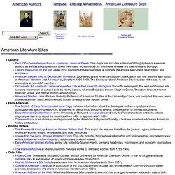 American Literature Sites