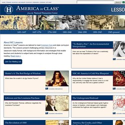 Lesson plans for American history & literature teachers