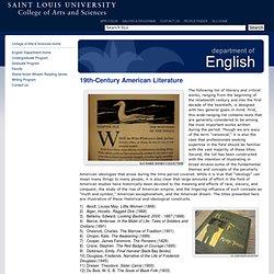 Popular 19th Century American Literature Books