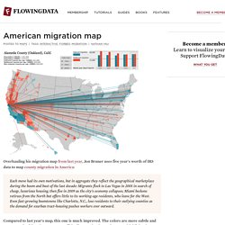 American migration map