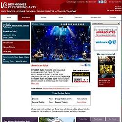 American Idiot - Des Moines Performing Arts