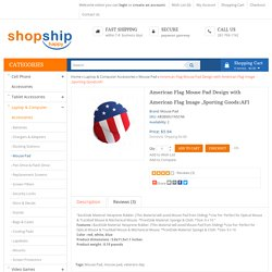 American Flag Mouse Pad Design with American Flag Image ,Sporting Goods:AFI