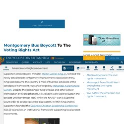 American civil rights movement - Montgomery bus boycott to the Voting Rights Act