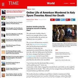 Ashley Olsen Florence Murder Inspires Amateur Online Sleuths